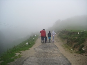 Walking to Hatu Devi Temple - the kids and the grown-ups had a blast!