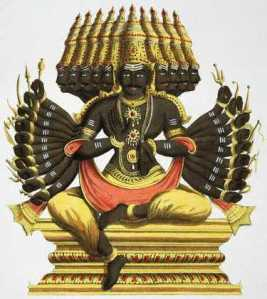 Ravan or Ravana - the demon king who fought Rama in Ramayana.