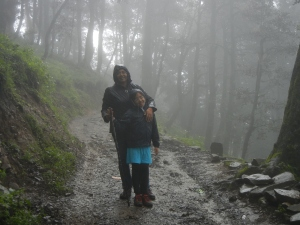 Tired troopers - cold, wet and suffering from altitude sickness. But it was still an experience worth having.